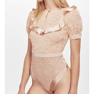 "For Love and Lemons ""Kira"" Lace Bodysuit Vintage"